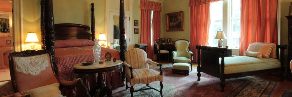 The master bedroom of the McFaddin-Ward House