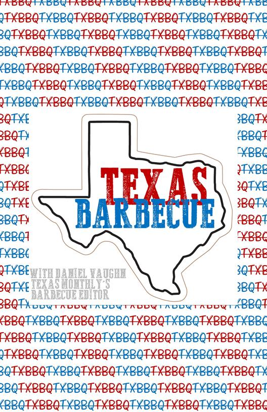 Texas Barbecue Rack Card